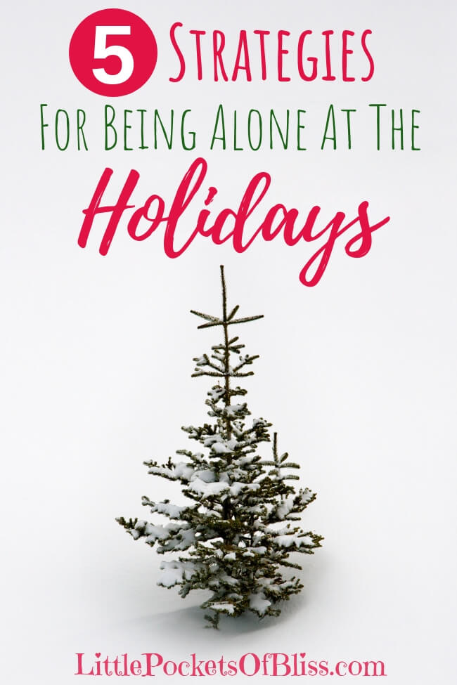 The idea of spending the holidays alone, especially if this is the first time, is no fun. You'd rather just skip the holidays altogether. But it doesn't have to be all doom and gloom. Here's some strategies for being alone at the holidays to make it merry and bright. #divorce #aloneattheholidays #singlemomlife