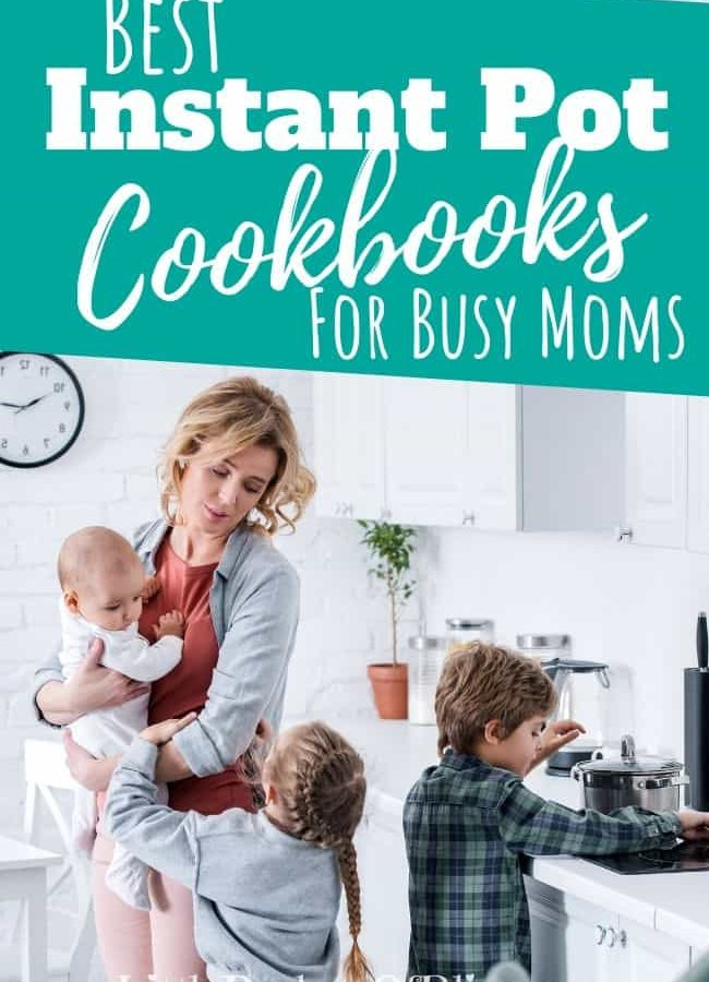 busy mom with kids in the kitchen