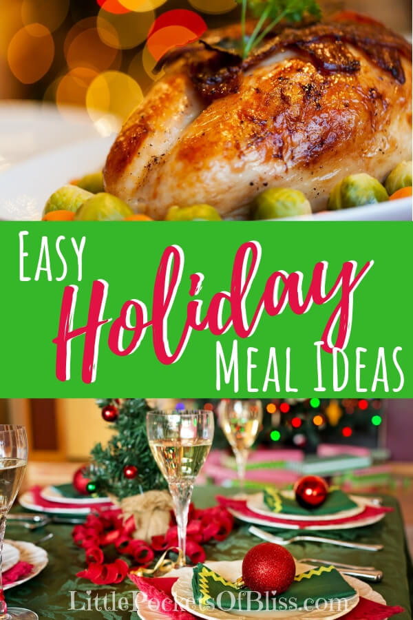 Looking for easy holiday meal ideas? Simple dishes that can be made ahead of time? What about lighter, healthier options? Check out these ideas gathered from our kitchen, and our favourites! #easyholidaymeals #simplechristmasdinner #stressfreeholiday