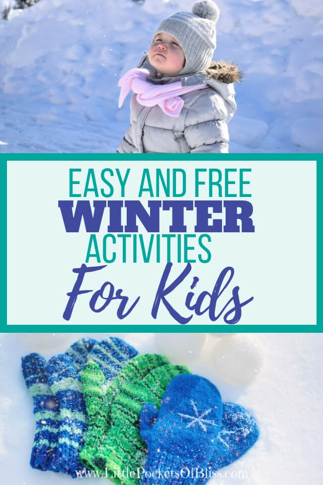 Looking for easy and free winter activities for kids?  Whether there is snow or not, plan to get outside, in your community, or stay cozy inside too! #winterkids #hyggeinwinter #winterfun
