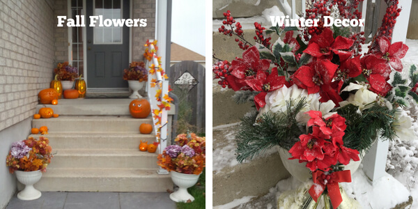 Front Porch Fall and Winter Decor