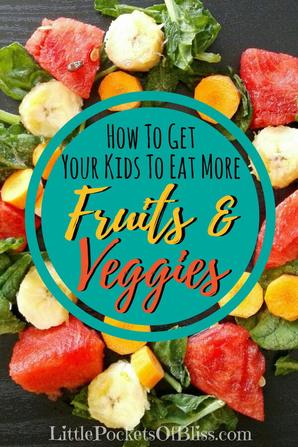 Picky eaters? Here's some great ideas to get your kids to eat more fruits and veggies! #pickyeaters #fruitsandveggies #healthykids #pickykidstips