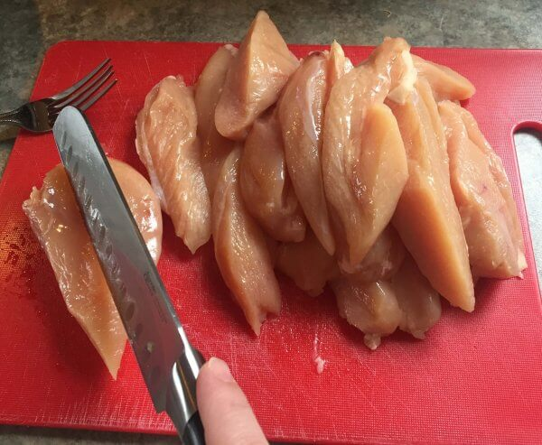 sliced chicken breasts