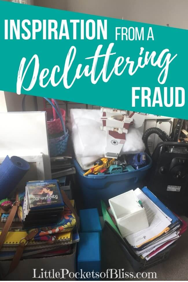 When your house is overflowing with clutter, how do you manage, where do you start? I want to help other moms, but I feel like a decluttering fraud. This is my house. But we can do it together! #decluttering #toomuchstuff #inspirationtoclean