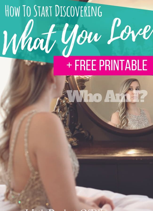 """Do you ask yourself in the mirror """"Who Am I""""? Have you forgotten the things you once loved? Start finding you again with this free printable worksheet! #whoami #maketimeforyou #selfcare #meaningoflife"""