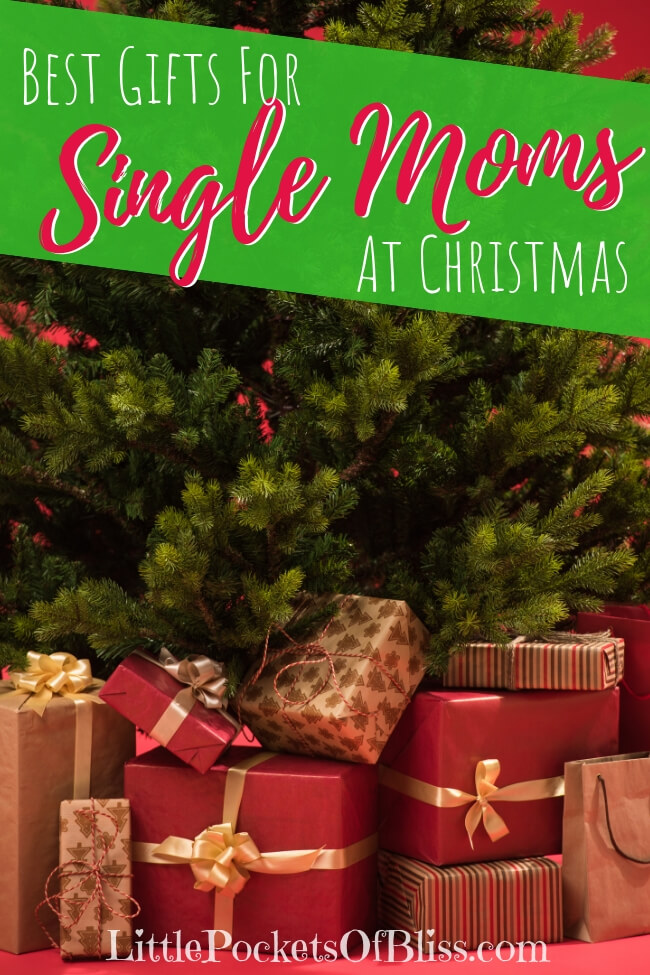 Need gifts for single moms? Here's the best ideas for gifts in the kitchen, cleaning, pampering, relaxing and learning. Christmas, birthdays, Mother's Day. #singlemomgift #giftsformom