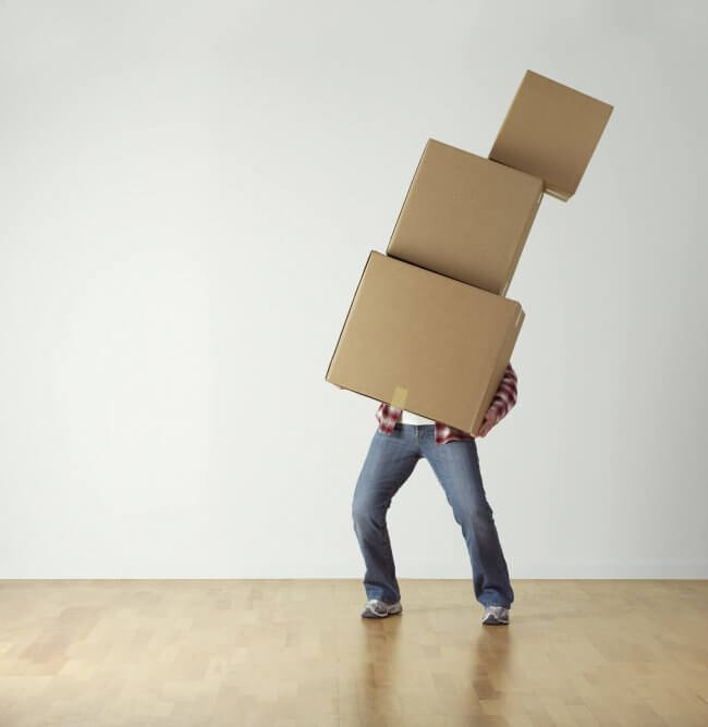 Getting through divorce by moving him and his stuff out