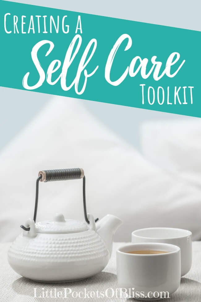 What is self care and how can you practice it? Here's tips based on your five senses to put together a self care toolkit to help you recharge and take care. #selfcaretoolkit #selfcare #happy #healthy