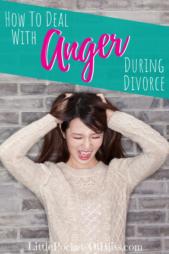 Getting angry about your divorce is natural.  What you do with that anger can really make a difference in how you get through.  Here are some suggestions on how to deal with anger during divorce! #divorce #divorceanger #divorcestress #getitallout