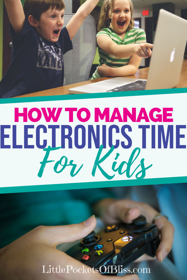 How To Manage Electronics Time For Kids when it feels like they are addicted to screens all the time. #screentime #gamingkids #electronicstime #addictedtoscreens #parenting #momlife #gamingaddiction