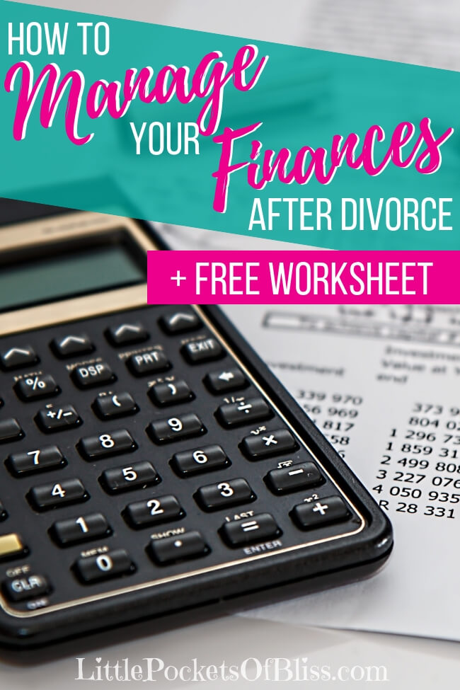 Managing your finances after divorce can seem overwhelming, scary and hard! Will you be able to pay all the bills? Will there be money for college? Can you do it all by yourself? Here's some tips and tools, including FREE printable debt and budget worksheets, to get your finances organized and clear. #divorce #budget #singlemombudget #cashfueledlife