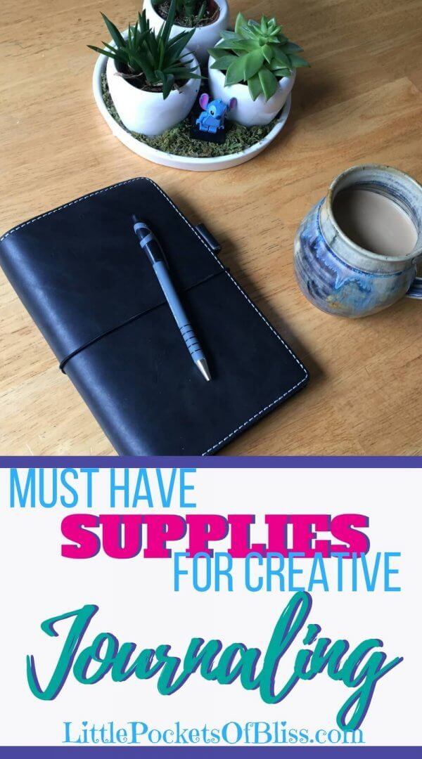 Journaling can be simple pen and paper.  But to take your creativity up a notch, really dive deep into self-discovery and self-care, here's a list of must have journaling supplies!  #journaling #selfcare #writeitout #penandpaper #journalingtips #journalingforbeginners
