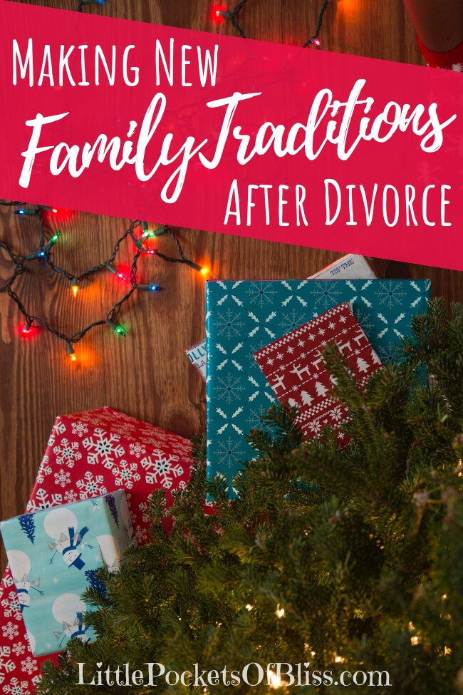 When you're newly divorced, the idea of family changes. Making new family traditions after divorce can help ground you, and bring you closer to your kids! #familytraditions #christmastraditions #divorce