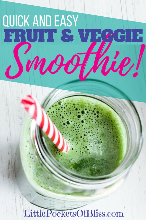 Quick and Easy Make-Ahead Fruits and Veggies Smoothie recipe, healthy way to get your kids eating more fruits and veggies, good for picky eaters, mixing spinach, fruits and protein powder. #healthykids #smoothierecipe #fruitsandveggies #pickyeaters #momlife