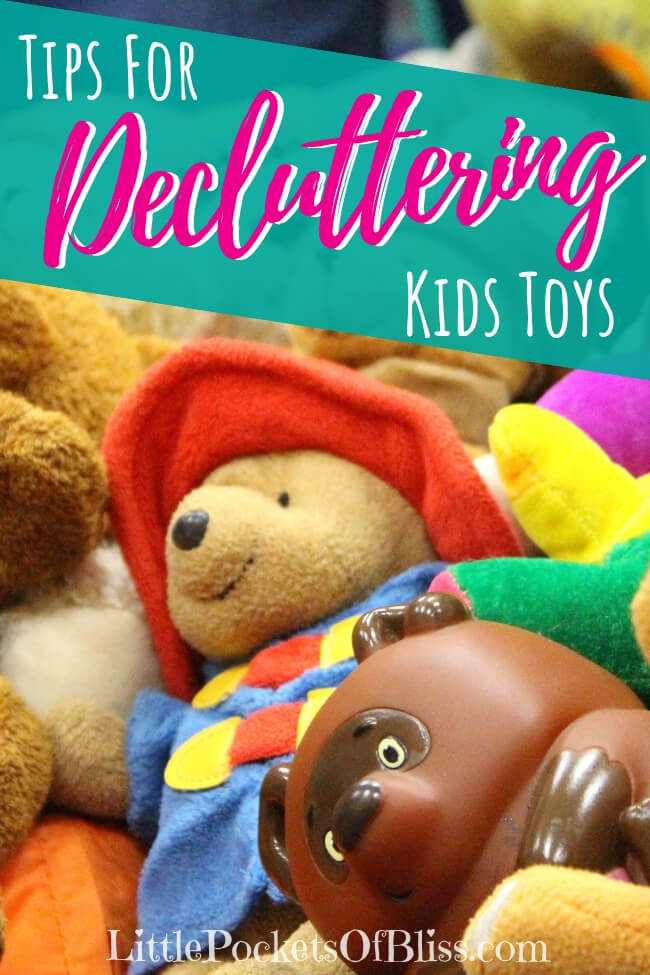 Decluttering kids toys is a challenge! Sorting, selling, giving away. Here's some tips to help you declutter kids toys step by step, emotions and all! #toomanytoys #decluttering #kidstoys