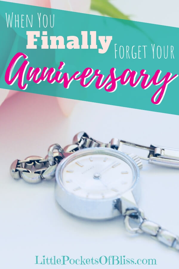 After divorce, it seems like you will never forget your anniversary.  It's a painful, angry reminder of a time gone by.  But time ticks on, and eventually you will forget and move on.  #divorce #movingon #singlemomlife #forgetyouranniversary